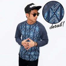 Raglan Arrow Webbing Pattern Navy