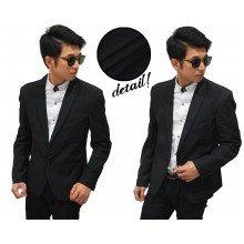 Formal Blazer Three Stripe Black
