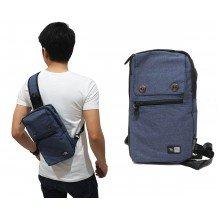 Shoulder Bag Plain With Double Button Navy