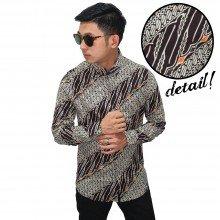 Kemeja Batik Parang Kusumo Modern Brown