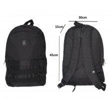 Tas Backpack Pocket Stripe Black