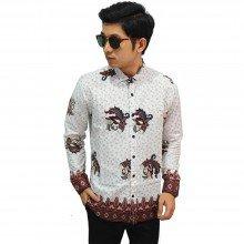 Kemeja Batik Floral Simple