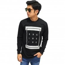 Sweatshirt Typography Executive Black