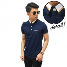 Polo Premium With Gold Ribbon Navy