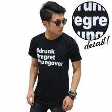 Kaos Drunk Regret Hungover Black