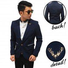 Blazer Pocket List With Deer Pin Navy