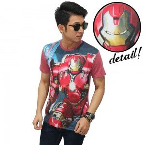 Kaos Superheroes Iron Man Hulkbuster Soft Red