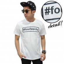 Kaos Hashtag Fourtwenty White