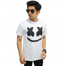 Kaos Dj Marshmello Face White