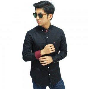 Kemeja Formal Plain Black