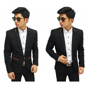 Blazer Formal Gold List Black