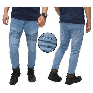 Biker Jeans Maskulin Light Blue