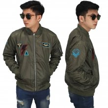 Jaket Bomber Tempur Air Force Dark Green