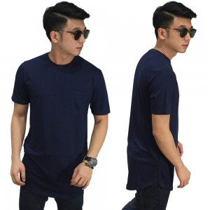 Longline T-Shirt Basic Navy