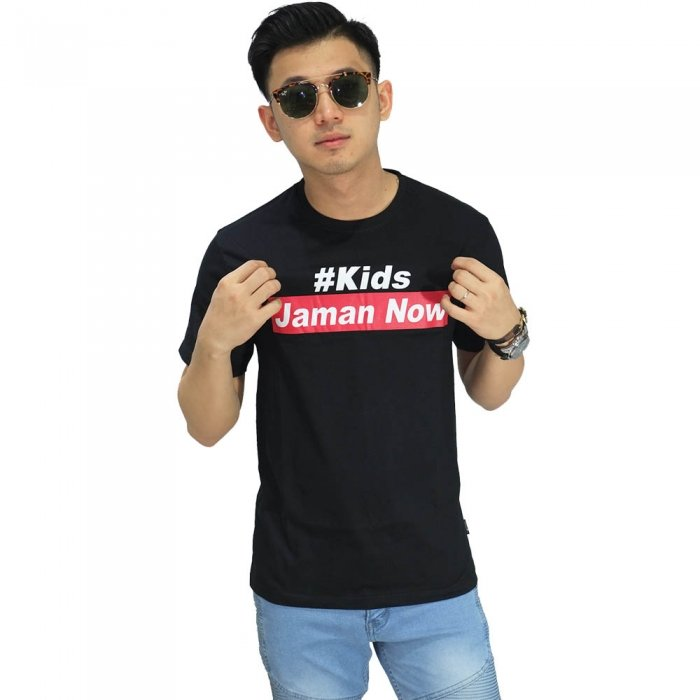 Kaos Kids Jaman Now Black