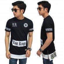 Longline T-Shirt Last King Wisdom Black
