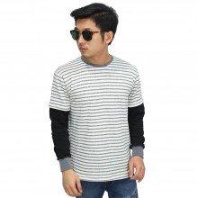 Sweatshirt Double Layer Stripe