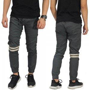 Celana Jogger Chino Double Stripe Dark Grey