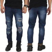 Jeans Ripped Mega Destroyed Dark Blue