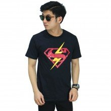 Kaos Logo Superman Flash Black