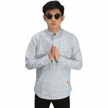 Kemeja Koko Modern Basic Soft Grey