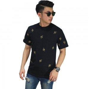 Kaos Banana Pattern Black
