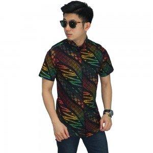 Kemeja Pendek Batik Modern Gradient Colour
