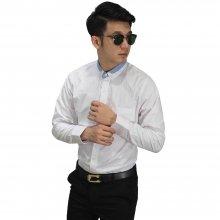 Kemeja Formal Collar Combination White