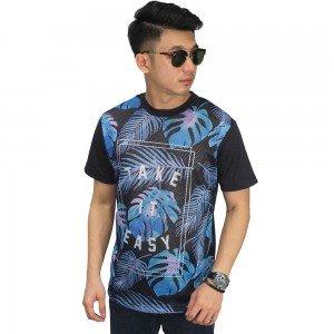 Mesh T-Shirt Leaf Printing