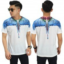 Kaos Printing Double Light Blue Wings (Front/Back)