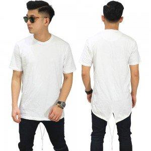 Longline T-Shirt Fishtail White