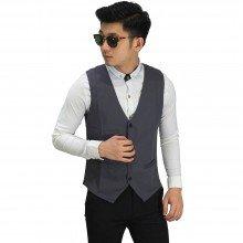 Vest Formal Basic Dark Grey