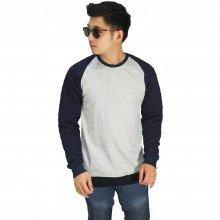 Sweatshirt Raglan Quilted Soft Grey