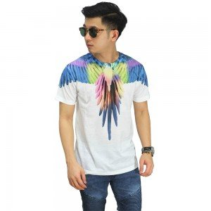 Kaos Printing Colorful Bird Wings