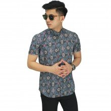 Kemeja Pendek Batik Abstract Full Motif