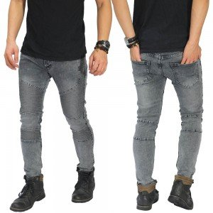 Jeans Biker Extend Snow Wash Grey