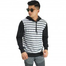 Jaket Jumper Hoodie Big Stripe White Smoke