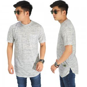 Longline T-Shirt Basic Tuton Soft Grey