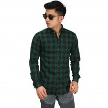 Kemeja Flanel Buffalo Check Green
