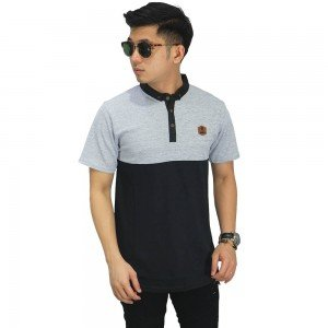 Polo Two Tone Soft Grey And Black