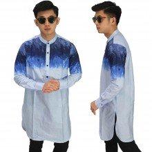 Baju Muslim Kurta Gamis Gradation Soft Blue