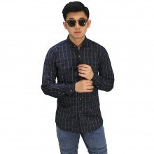 Kemeja Plaid Checkered Black
