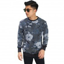 Sweatshirt Floral Vector Dark Grey