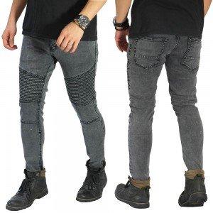 Biker Jeans Maskulin Washed Dark Grey