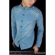 Kemeja Denim Shanghai Style Blue