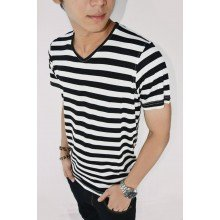 Striped Tee Black n White