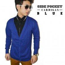 Cardigan Side Pocket Blue