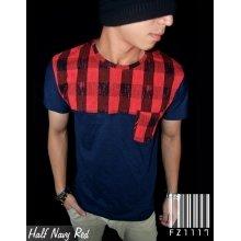 Half Navy Red