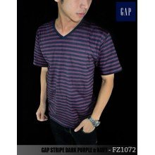 GAP Striped Dark Purple n Navy