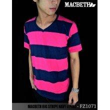 MACBETH Big Stripe Navy n Pink